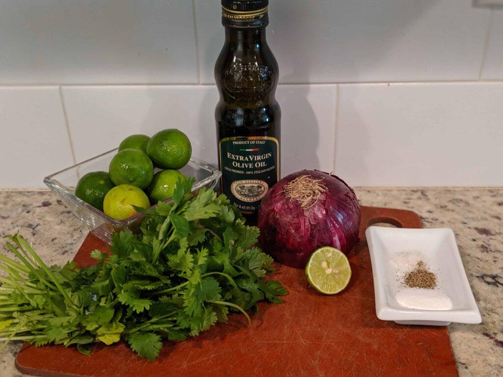 marinated key lime shrimp ingredients
