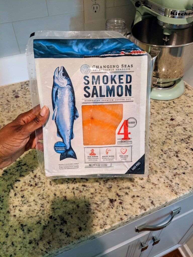 smoked salmon in a package