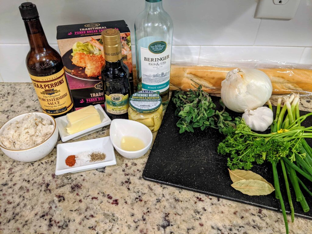 ingredients for crab c'est si bon