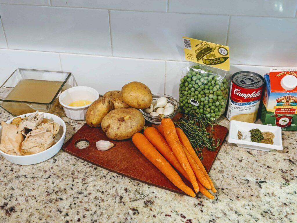 homemade chicken pot pie ingredients
