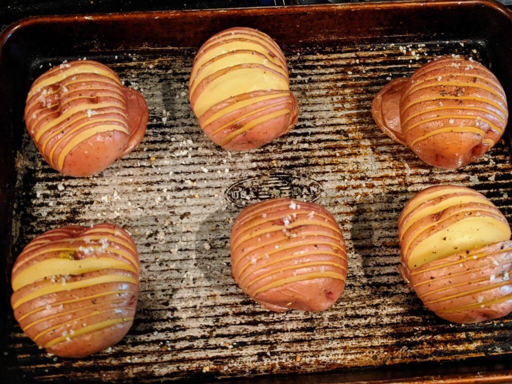 hasselback potatoes roasted