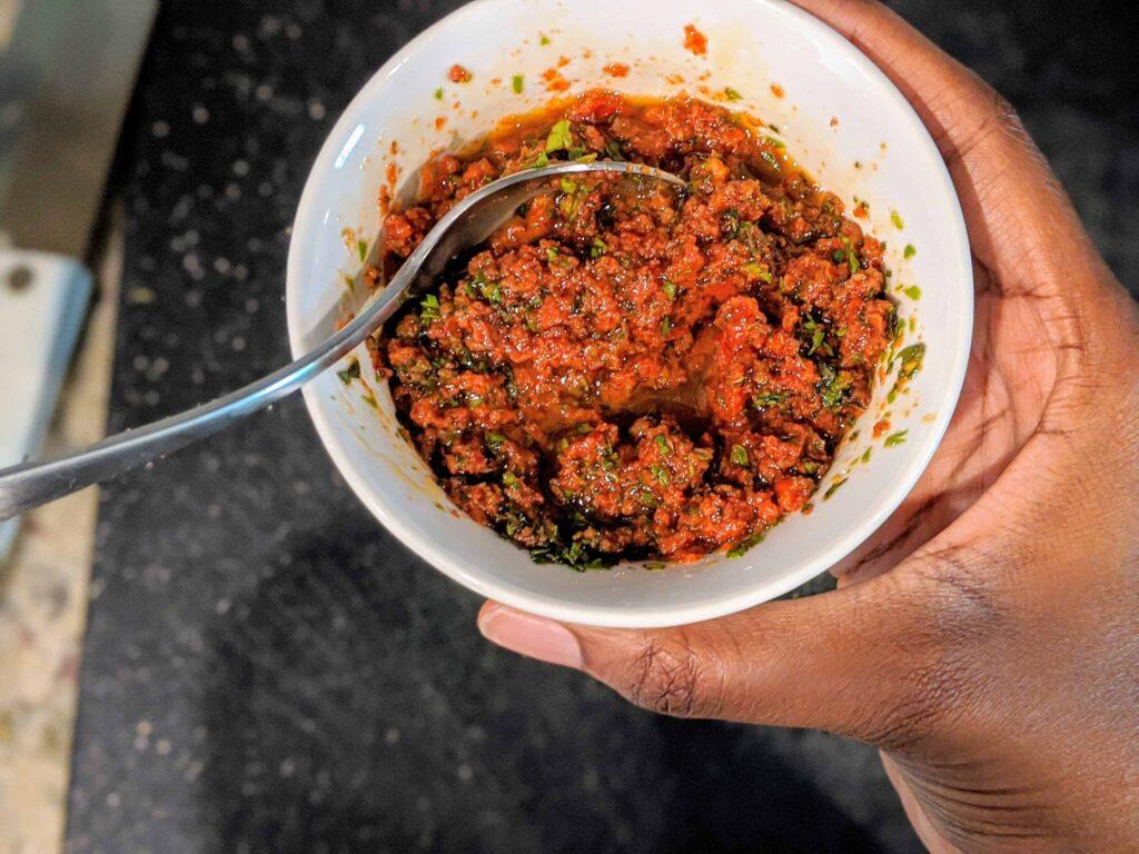 sun dried tomato pesto mixed