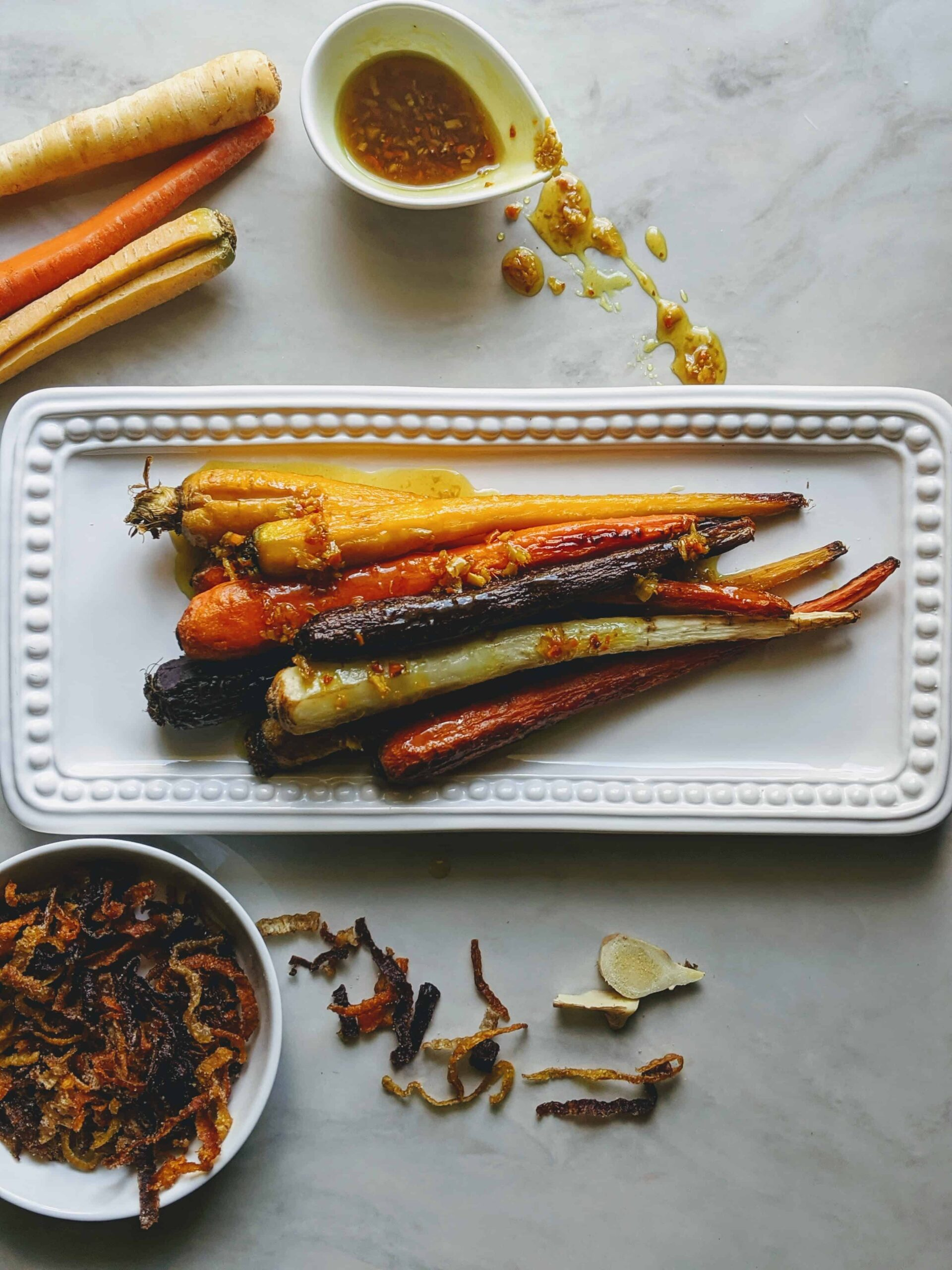 Rainbow Carrots with Ginger Maple Butter