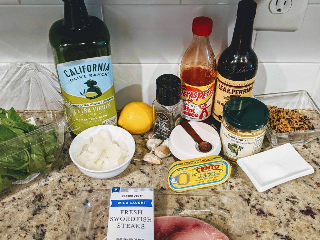 caesar swordfish ingredients
