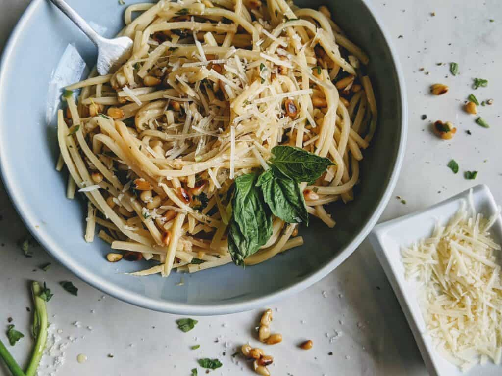 fragrant heart of palm pasta