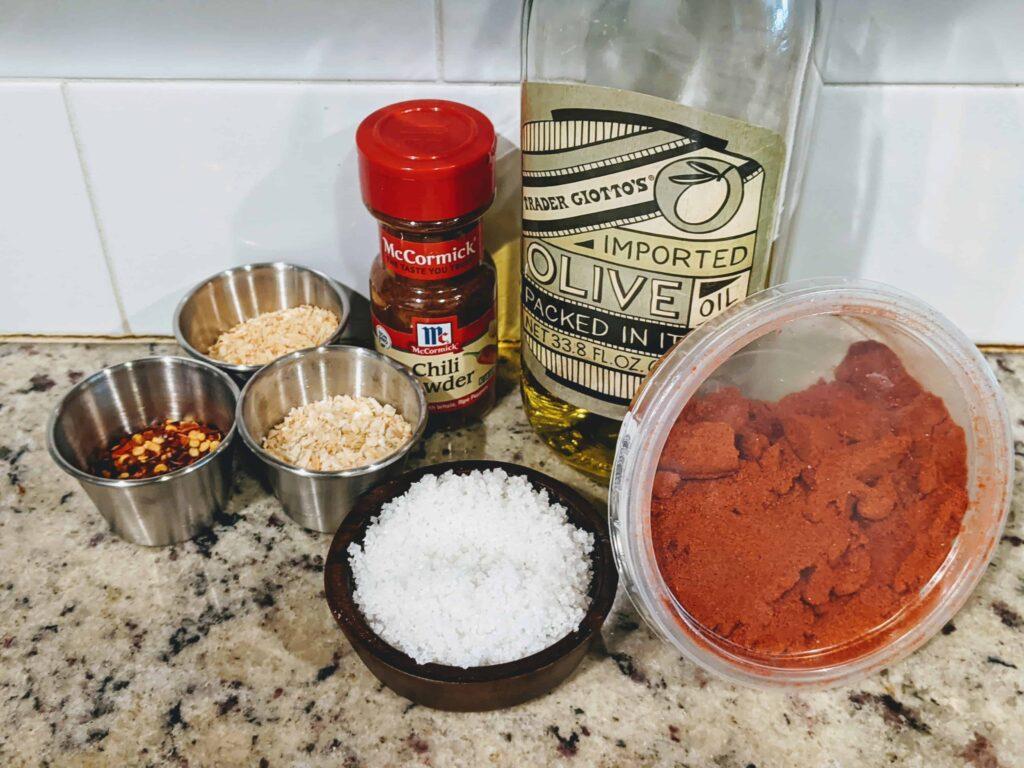 ingredients for Chili-Garlic Onion Crunch-Trader Joe's Copycat Recipe