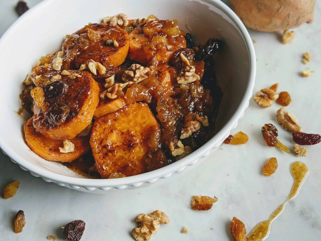tropical candied yams
