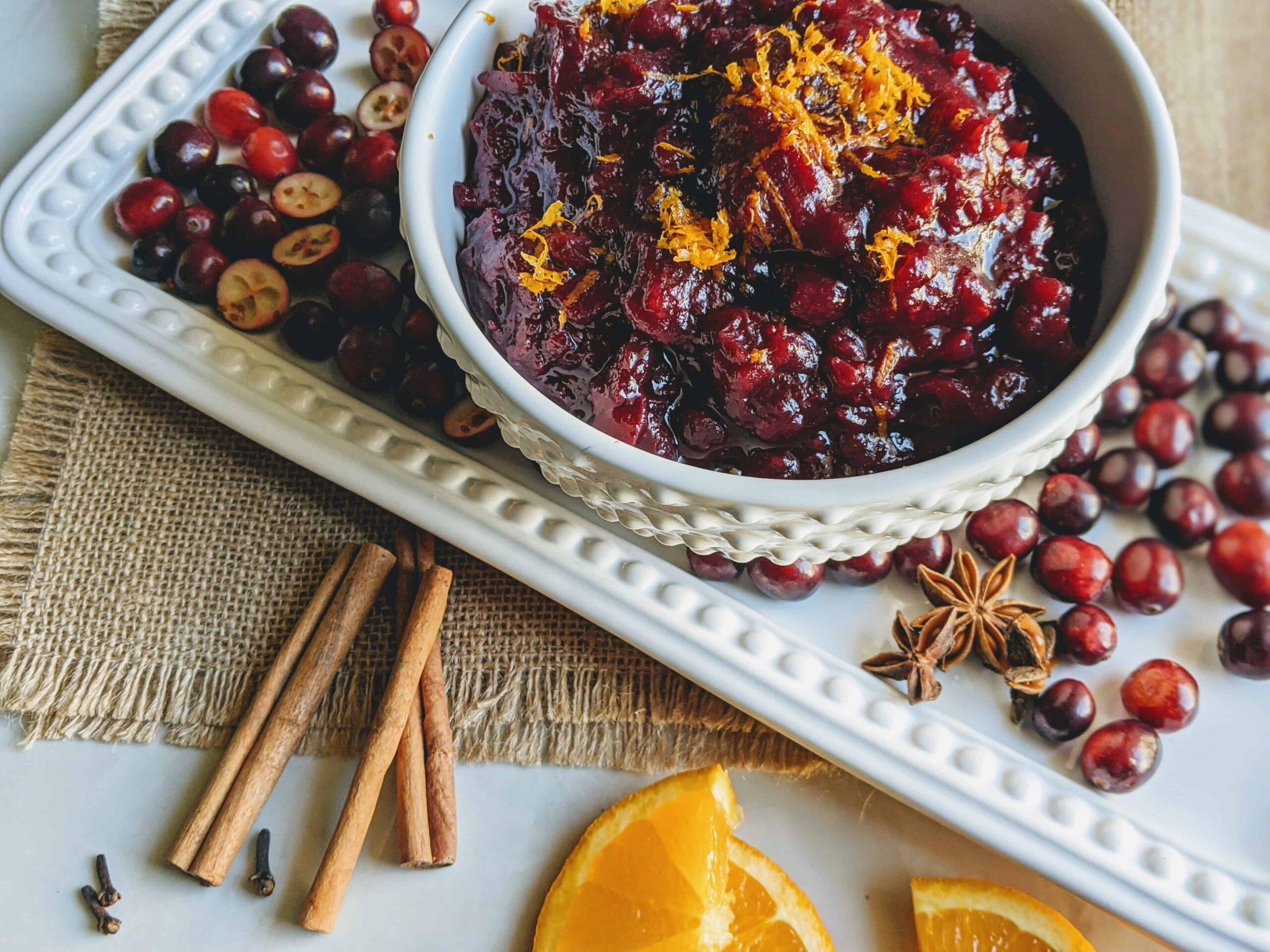 spiced cranberry sauce