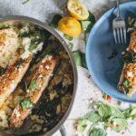 lemony gorgonzola salmon