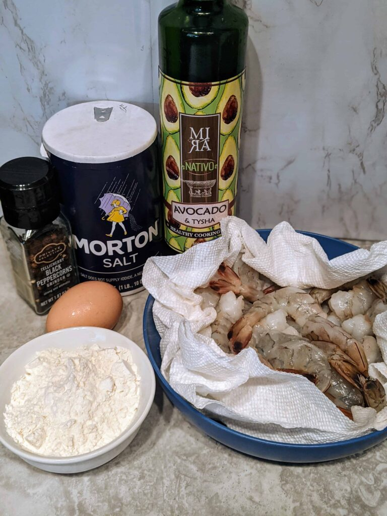 ingredients for easy breaded shrimp