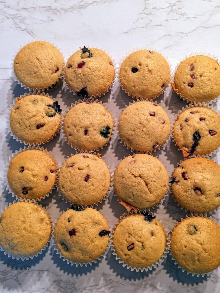 blueberry pomegranate cupcakes