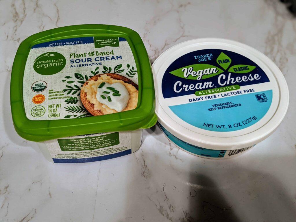 plant based sour cream, vegan cream cheese